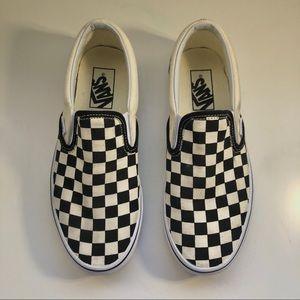 Black Checkerboard Slip-On Vans